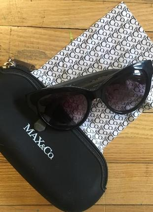Стильные cat очки max&co. (265/s черные)3 фото