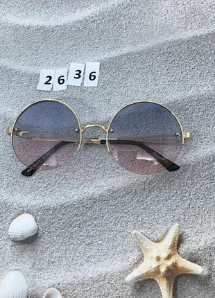Стильные круглые очки к. 2636