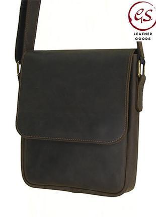 Коричневая мужская кожаная сумка повседневная кожаная сумка через плечо