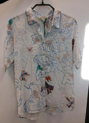 Блуза рубашка  бренда yumi (1411)