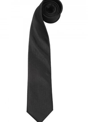 Черный галстук матовый