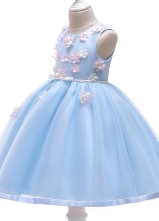 Шикарное пышное платье с цветами