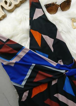 Актуальное миди платье в геометрический принт №15max2