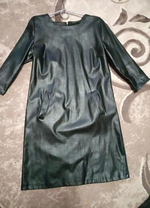 Платье кожзам1