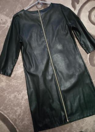 Платье кожзам2