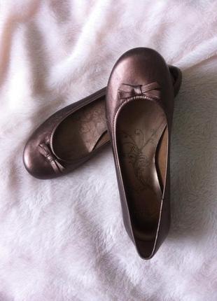 Туфли балетки clarks кожа