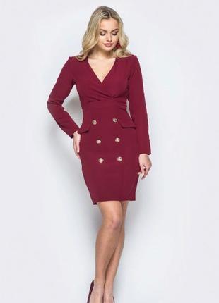 Платье пиджак офисный сдержанный мини стиль1