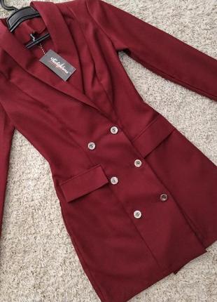 Платье пиджак офисный сдержанный мини стиль6