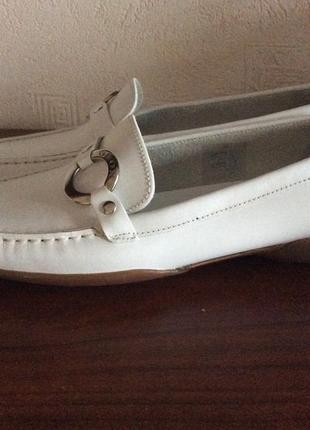 Мокасины geox кожаные белые нарядные элегантные удобные3