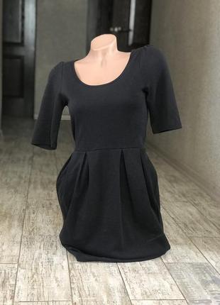 Базовое чёрное платье vero moda#офисное платье#платье-футляр1