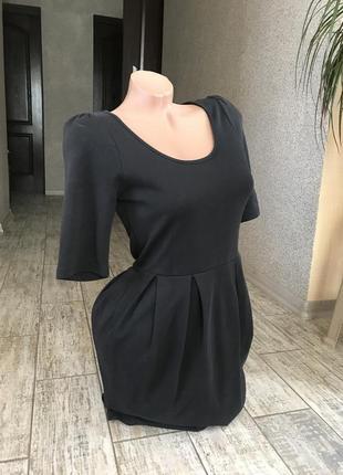 Базовое чёрное платье vero moda#офисное платье#платье-футляр3