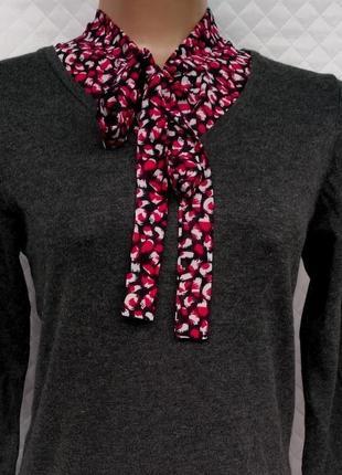 Актуальный вискозный джемпер с блузой обманкой размер 10-12 (42-44)2 фото