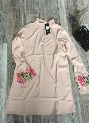 Плаття з вишитими рукавами1