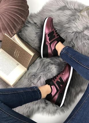 Шикарные женские кроссовки new balance 574 burgundy5
