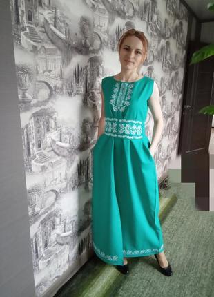 Льон плаття вишиванка1