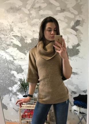 Нереально крутая оригинальная свитер-пончо на завязках5