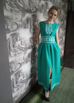 Льон плаття вишиванка3