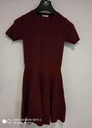 Красивое платье резинка бордо1
