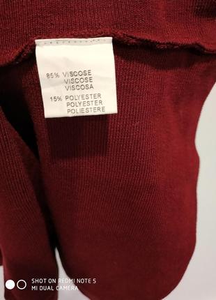 Красивое платье резинка бордо4