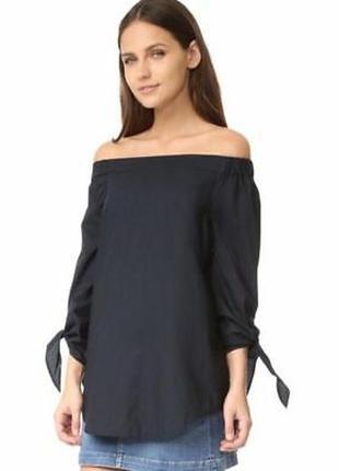 Чёрная рубашка со спущеными плечами1