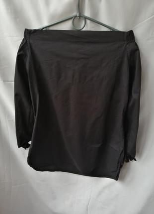 Чёрная рубашка со спущеными плечами3
