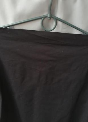 Чёрная рубашка со спущеными плечами5