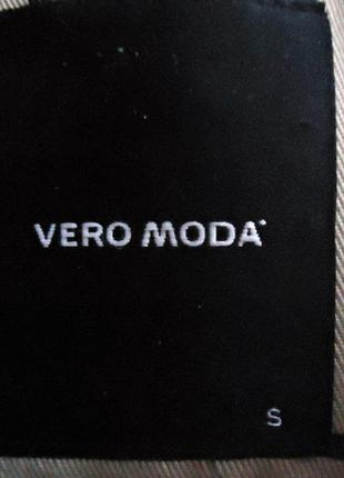 Плащ vero moda, полоска, с поясом, классика, размер s4