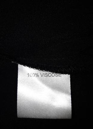 Чёрная блуза из вискозы свободного кроя5