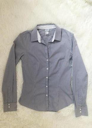 Стильная базовая рубашка в полоску h&m1