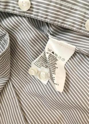 Стильная базовая рубашка в полоску h&m3