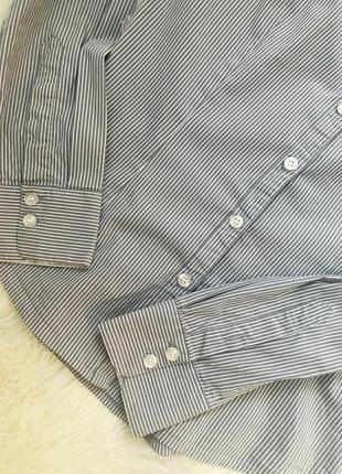 Стильная базовая рубашка в полоску h&m4
