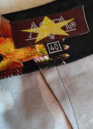 Нескучная летняя юбка из набивного коттона с шелковыми воланами, 46го размера4