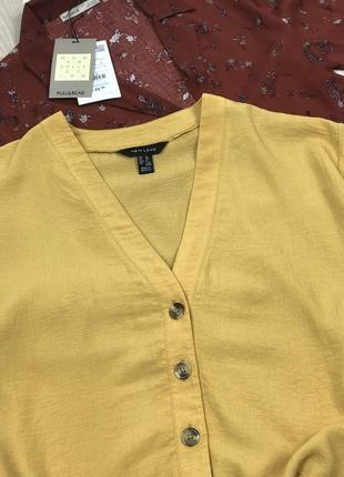 Жёлтая блуза на пуговицах new look3