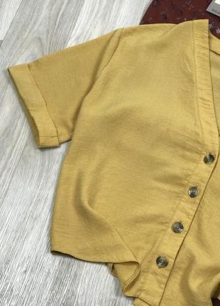 Жёлтая блуза на пуговицах new look4