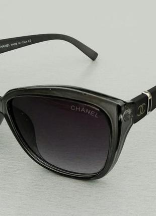 Chanel очки женские солнцезащитные в серой прозрачной оправе1