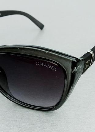 Chanel очки женские солнцезащитные в серой прозрачной оправе3