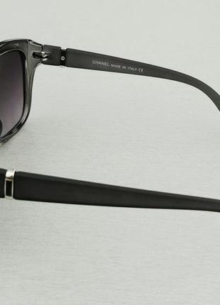 Chanel очки женские солнцезащитные в серой прозрачной оправе4