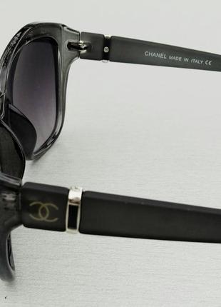 Chanel очки женские солнцезащитные в серой прозрачной оправе5