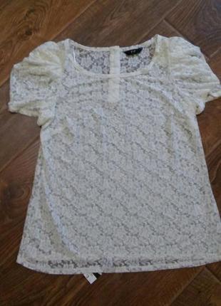 Ажурная  блуза кофточка1