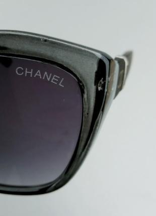 Chanel очки женские солнцезащитные в серой прозрачной оправе8