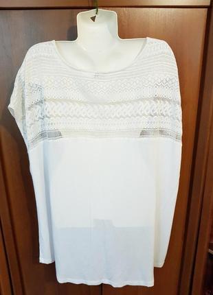 Нарядная белая футболка размера 62-642