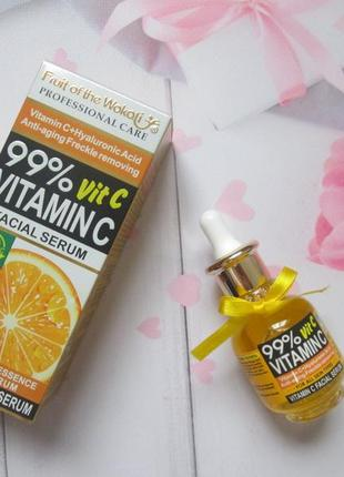 Сыворотка wokali vitamin c+hyaluronic acid anti-aging freckle removing1