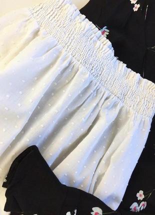 Белоснежная блуза с приспущеными плечами2