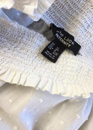 Белоснежная блуза с приспущеными плечами5