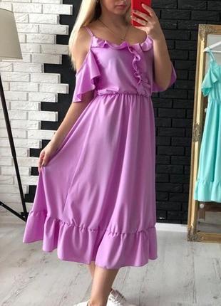 Платье с рюшами плаття з рюшами разные цвета1