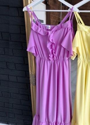 Платье с рюшами плаття з рюшами разные цвета2