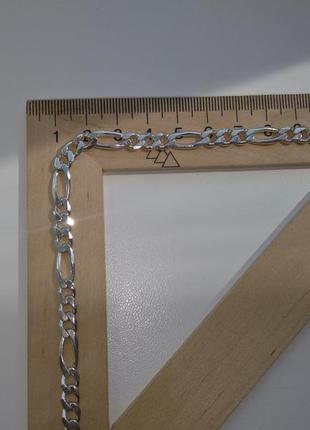 Серебряный браслет плетение фигаро картье серебро 925 пробы2