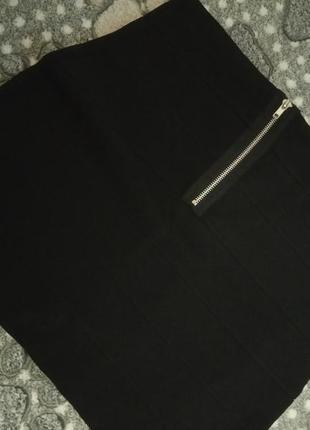Юбка резинка черная маленькая юбка