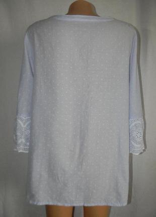 Натуральная легкая блуза с вышивкой3