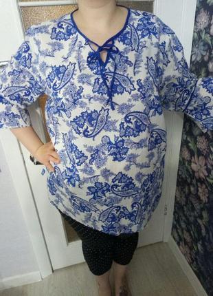 Хлопковая легкая блуза от janet&joyce, 24 размер2